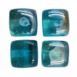 Cubes verre - Turquoise  x 4